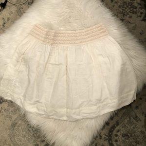 JCREW white linen skirt